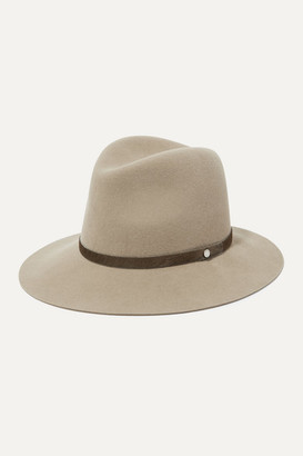 Rag & Bone Calf Hair-trimmed Wool-felt Fedora - Mushroom
