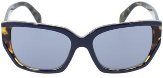 Prada Contrast Rectangle Sunglasses