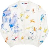 GKERO Flying Birds Silk Bomber Jacket