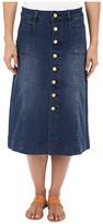 Jag Jeans Barrett Button Front Denim Skirt