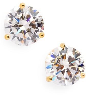 Nordstrom Women's Precious Metal Plated 3Ct Tw Cubic Zirconia Earrings