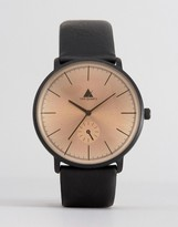 Asos Watch In Black With Rose Tinted Lens