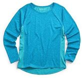 Champion Girls' Colorblock Long-Sleeve Tee Shirt