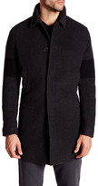 James Perse Stripe Sleeve Winter Coat