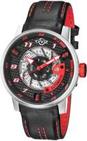 GV2 Watches Men's Motorcycle Black and Red Dial Sport Watch, 48mm