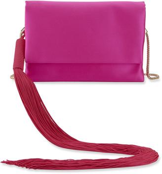 Galvan Small Satin Shoulder Bag with Tassel