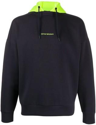 Emporio Armani Hooded Logo Sweater