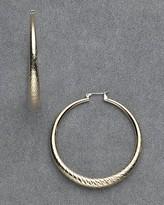 Women's Gold Diamond Cut Hoop Earrings