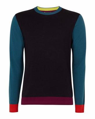 Ted Baker Bopit Colour Block Wool Blend Jumper