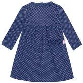Jo-Jo JoJo Maman Bebe Classic Dress (Baby) - Navy/Fuchsia Dot-12-18 Months