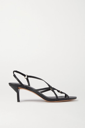 3.1 Phillip Lim Louise Leather Slingback Sandals - Black