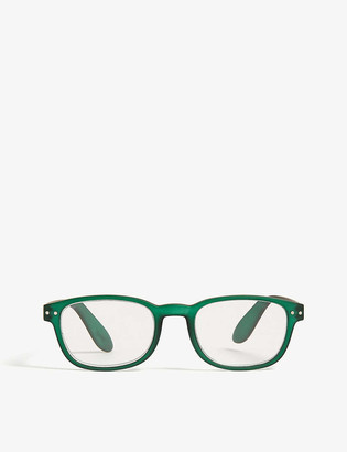 Izipizi #D Reading square-frame glasses +2
