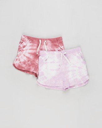 Cotton On Girl's Pink Shorts - 2-Pack Gianna Knit Shorts - Kids - Size 3 YRS at The Iconic