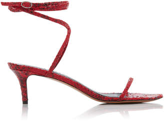 Isabel Marant Aridee Snake-Effect Leather Sandals Size: 37