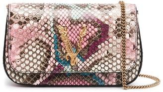 Versace Virtus python-print crossbody bag