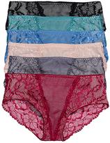 B.ella Neutral & Bright Floral Lace Hipster Set