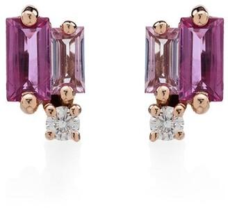 Suzanne Kalan 18kt Gold Sapphire Diamond Stud Earrings