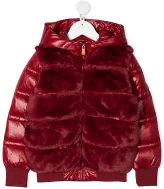 Save The Duck Kids Faux Fur Panelled Padded Jacket