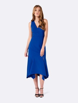 Forever New Talia strappy back dress - Vibrant Blue - 4