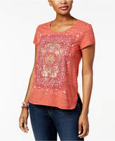 Style&Co. Style & Co Style & Co Petite Graphic T-Shirt, Created for Macy's
