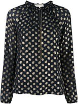 MICHAEL Michael Kors metallic dots longsleeved blouse