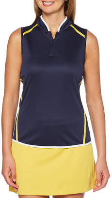 PGA Tour TOUR Womens Y Neck Sleeveless Tank Top
