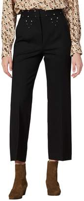 Sandro Studdy Flared Trousers