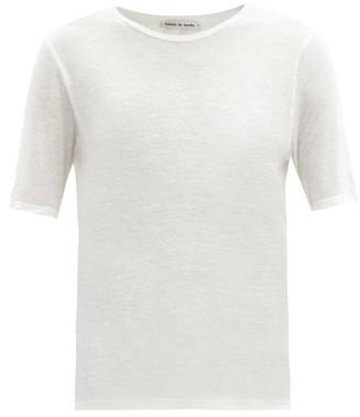 FRANCES DE LOURDES Martin Round-neck Modal And Silk-blend T-shirt - White