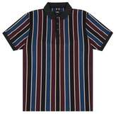 Burton Mens , Blue And Burgundy Vertical Stripe Polo Shirt