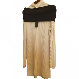 Aq/Aq Aqaq White Wool Dress for Women
