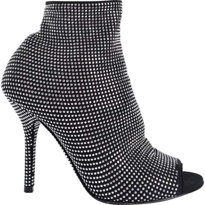 Dolce & Gabbana Cloth open toe boots