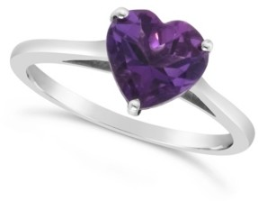 Macy's Blue Topaz (2-1/3 ct. t.w.) Ring in Sterling Silver. Also Available in Amethyst (1-5/8 ct. t.w.)