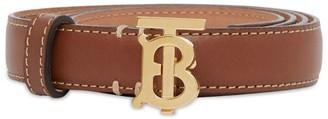 Burberry Leather TB Monogram Belt
