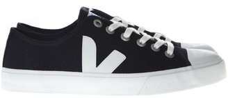 Veja Black And White Wata Sneakers In Organic Cotton