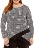Liz Claiborne Long Sleeve Tier Tunic- Plus