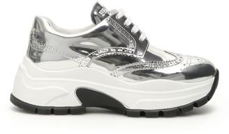 Prada Metallic Chunky Sole Sneakers
