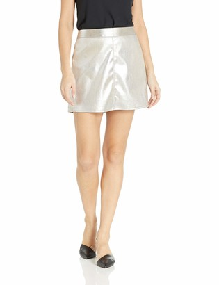 Cupcakes And Cashmere Women's Keller Foiled Faux Suede A-line Skirt