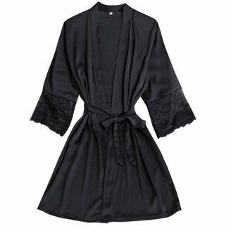 Jiegorge Lingerie Underwear Set Sexy Wireless Rimless Pajamas Lace Nightdress Silk Underwear Women Sleepwear