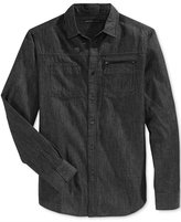 Sean John Men's Big & Tall Raw Black Denim Shirt