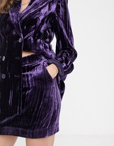 And other stories & crushed velvet mini skirt in purple