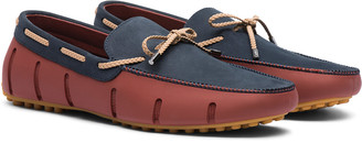 Swims Braided Lace Lux Leather Loafer Driver
