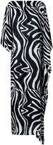 Emilio Pucci contrast printed maxi dress