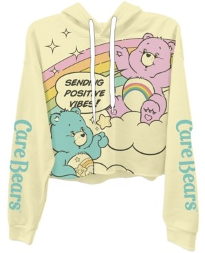 Freeze 24-7 Trendy Plus Size Care Bears Cropped Hoodie