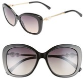 BP Women's 54Mm Square Sunglasses - Black