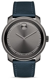 Movado Bold Leather Strap Watch, 42mm