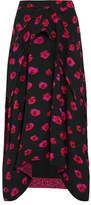 Proenza Schouler Printed Georgette Skirt - Black