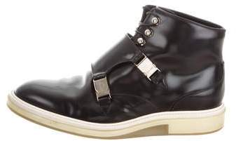 Christian Dior Double Monk Strap Ankle Boots