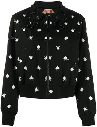 No.21 Star Print Bomber Jacket