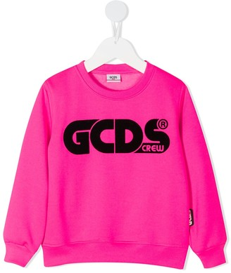 Gcds Kids Logo Print Sweatshirt