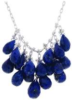 Ten Thousand Things Faceted Lapis Waterfall Necklace - Sterling Silver